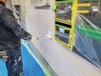 宇都宮市 Kアパート 外壁塗装(下塗り)