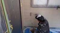 ひたちなか市 D様邸 外壁塗装(中塗り・上塗り)