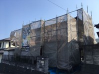 日立市 O様邸 外壁塗装(架設足場組立)