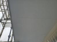 宇都宮市 Kアパート 軒天塗装(下塗り・中塗り・上塗り)