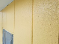 ひたちなか市 K会館 外壁塗装(中塗り・上塗り)