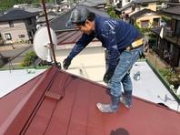 日立市 H様邸 屋根塗装(上塗り)