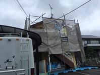 宇都宮市 Kアパート 屋根・外壁塗装(架設足場組立)