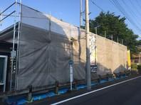 ひたちなか市 K会館 屋根・外壁塗装(架設足場組立)