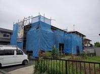 城里町 T様邸 外壁塗装・屋根カバー工法(架設足場組立)