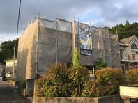 城里町 S様邸 外壁塗装(架設足場組立)