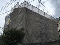 那珂町 E様邸 外壁塗装(架設足場組立)