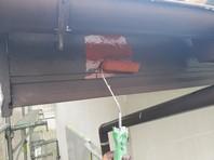 那珂町 E様邸 破風塗装(ケレン・下塗り・中塗り・上塗り)