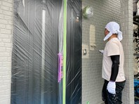 清原台 O様邸 外壁塗装(上塗り)