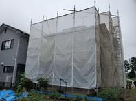 清原台 O様邸 屋根・外壁塗装(架設足場組立)