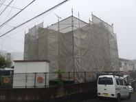 日立市 G様邸 外壁塗装(架設足場組立)