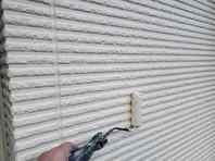 日立市 G様邸 外壁塗装(上塗り)