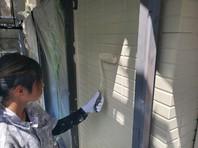 日立市 N様邸 外壁塗装(上塗り)
